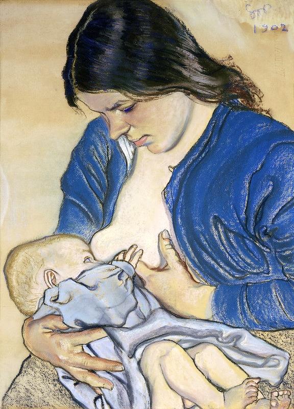 Lactancia materna. Autor: Stanisław Wyspianski