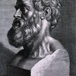 Grabado de Hipócrates. Pedro Pablo Rubens, 1638.