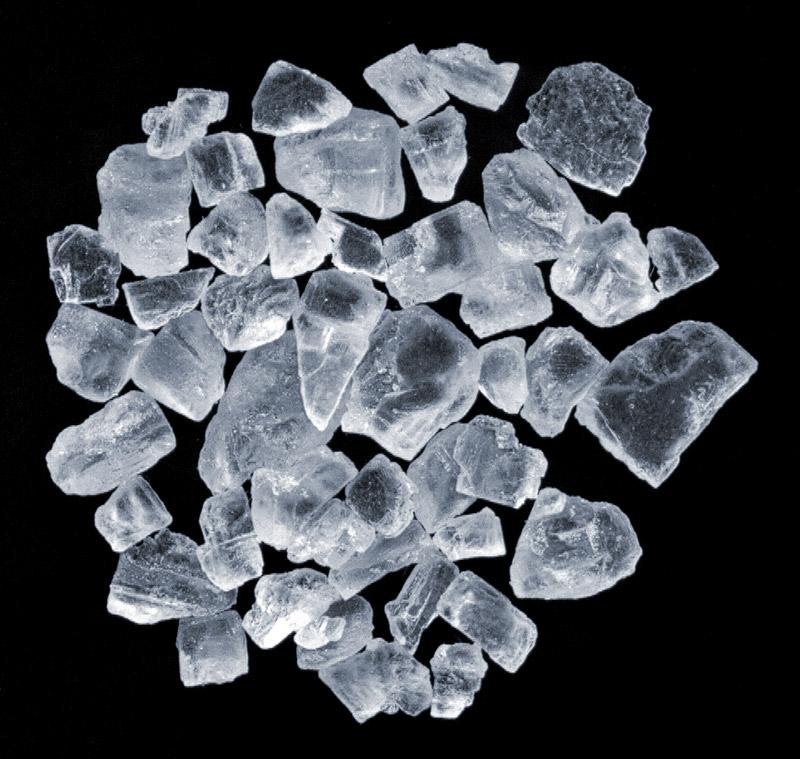 Cristales de sal. Foto: Andre Karwath
