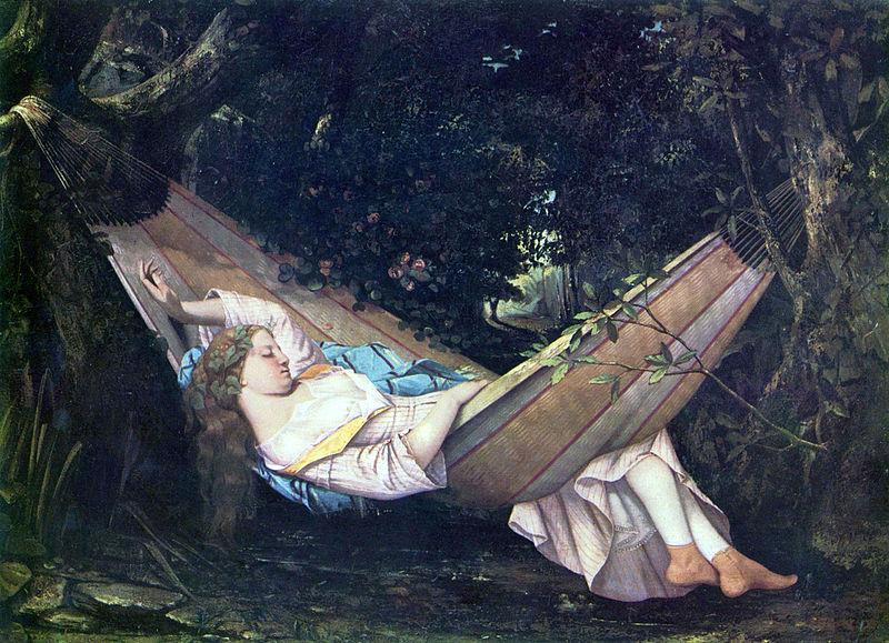 La hamaca (Die Hängematte) de Gustave Courbet (1844)