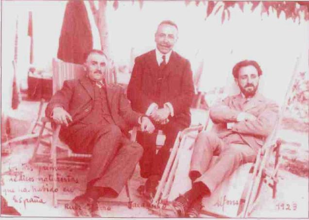 os tres primeros médicos naturistas que ha habido en España, Ruiz Ibarra, Jaramillo, Alfonso. 1923