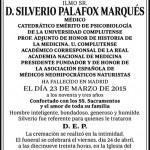 Fallece el Dr. Silverio Palafox Marqués, médico neo-hipocrático